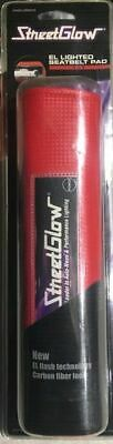 StreetGlow EL Lighted Seat Belt Pad - Red - Official Neon of the Fast & Furious