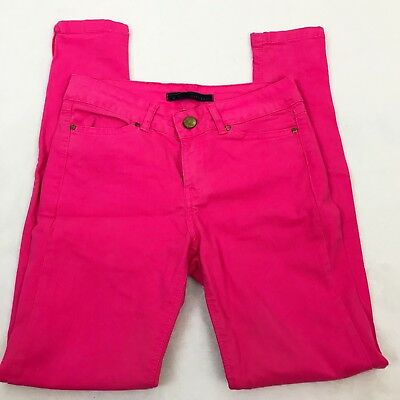 Zara Womens Basic Skinny Jeans Hot Pink Vintage Collection Zippers On Bottom 2