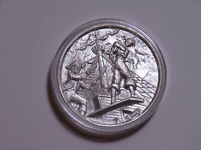 Privateer Series The Plank Ultra High Relief 2 Oz 999 Silver Round In Capsule