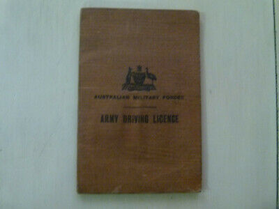 1941 Army Driving Licence