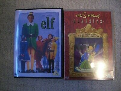 The Simpsons: The Simpsons Go to Hollywood DVD and Elf with Will Ferrell. PG