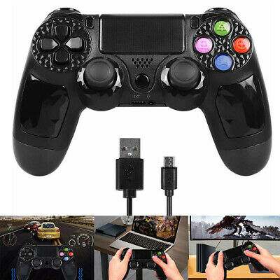 Controller für Sony Playstation 3 4 PS3 PS4 DUALSHOCK Wireless Gamepad Schwarz