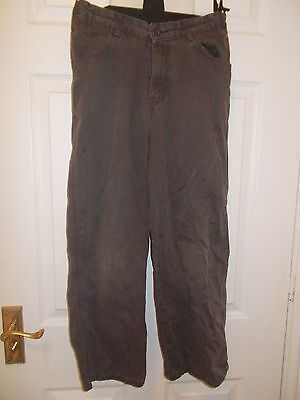 Marks and Spencer brown trousers age 10