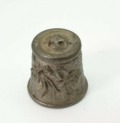 Thimble Pewter MW McMillan & Wife 'Buttons and Bows' Vintage