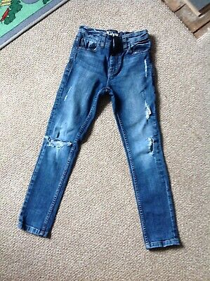 Next Boys Ripped Skinny Jeans Age 8 Years (Height 128 cm).