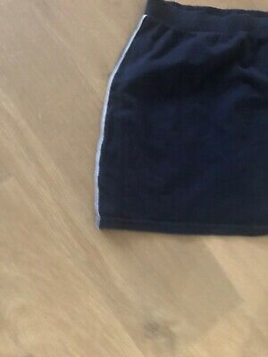 Girls School PE Shorts Skirt Skort Age 15 Years Navy Jersey TU ***