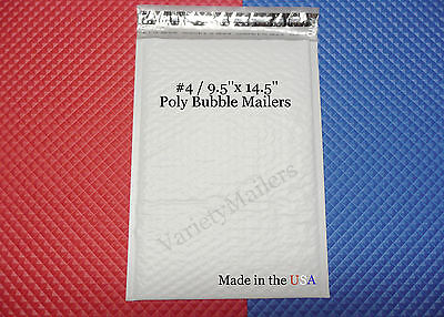 8 Large Poly Bubble Envelopes ~ #4 / 9.5 x 14.5 ~ Padded Shipping Mailers