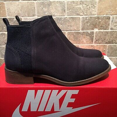Ladies/Girls Tesco F&F Navy Chelsea Faux Suede Ankle Boots - Size 5