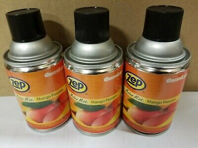 Zep Meter Mist Mango  Air Freshener 6.5 Oz Lot Of 3 cans