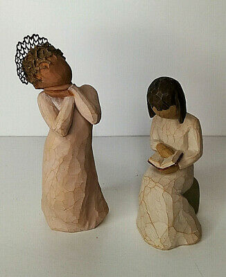 "Willow Tree Figures ""Angel Love"" 2009 Lordi And ""Wisdom"" 2003"
