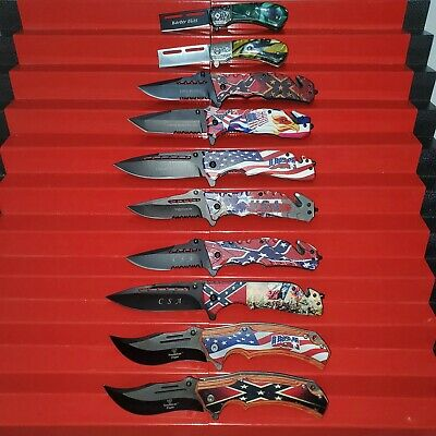 New Wholesale Lot 10 Pcs Tactical Assorted Spring Assisted Folding Pocket Knife