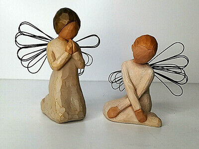 "Willow Tree Figures ""Serenity"" 2002 Lordi And ""Angel Of Prayer"" 1999"