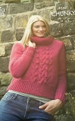 King Cole Ladies Mens Double Knitting Pattern Straight Roll Neck Sweater DK 4373