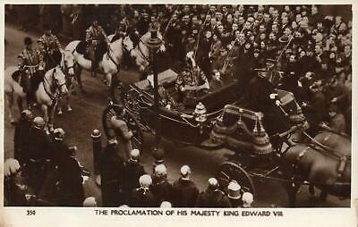 THE PROCLAMATION of HIS MAJESTY KING EDWARD VIII REAL PHOTO POSTCARD - UNUSED