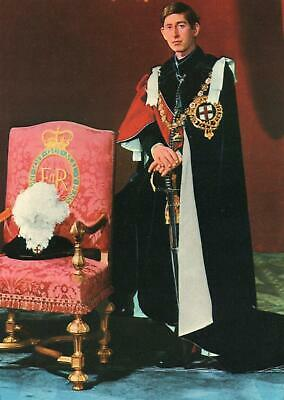 CHARLES PRINCE of WALES as a KNIGHT of the GARTER POSTCARD - UNUSED - EXCELLENT