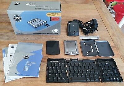 Palm M505 Handheld Organiser PDA and Accessories