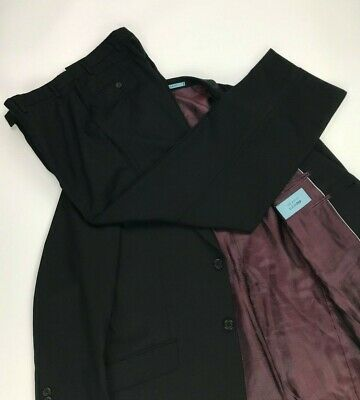 Men's Black Ted Baker Elevated Suit 42R W34 L30 Wool 2 Button Single Vent A