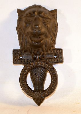 Black Cast Iron Lion Head Door Knocker