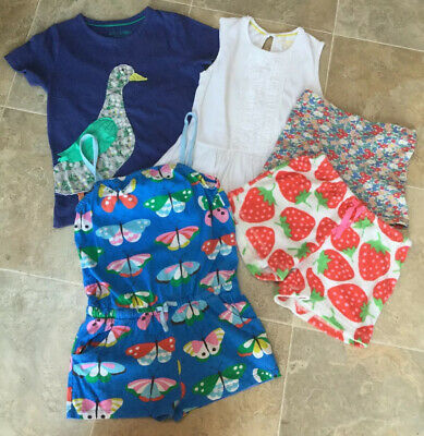 Mini Boden Girls 5 Summer Item (Shorts, Playsuit & Tops) Bundle, Age 7-8  In VGC