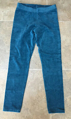 Mini Boden Girls Turquoise Velour Effect Leggings, Age 8- 9 Years In Vgc