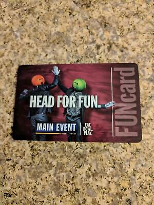 Main Event FUN card Gift card Approx $35 value 175 credits