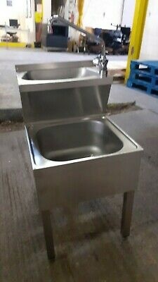 Janitorial Stainless Sink Double Commercial Sink Includes Mixer Tap