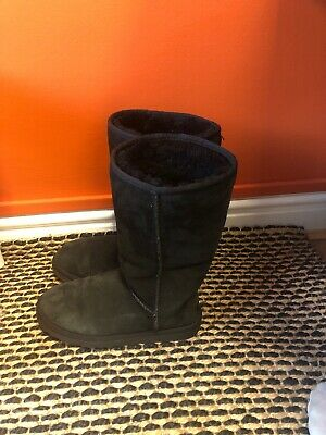 Ladies UGG AUSTRALIA 'Classic Tall' Genuine Suede Boots UK 6.5