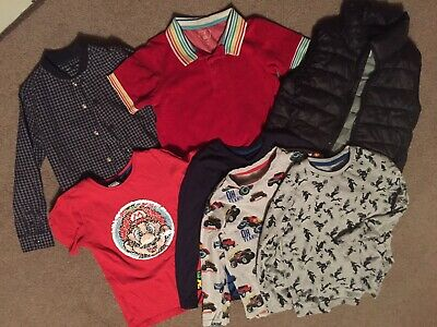 Boys Bundle Of Tops Age 6 7 Next Little Bird Super Mario