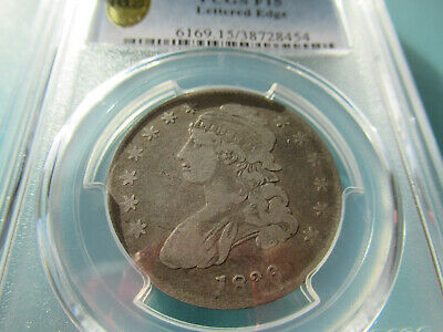 1836 Capped Bust Half Dollar -PCGS LETTERED EGDE F15 FREE SHIPPING
