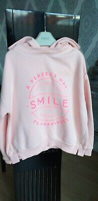 Girls Pink NEXT Hooded Sweater top. Age 6 Years.