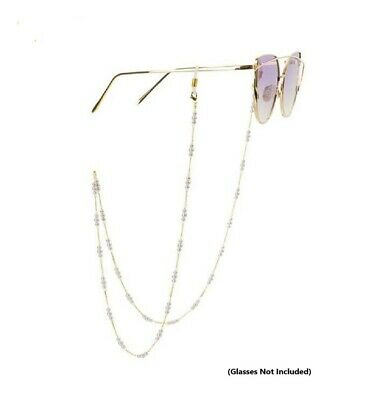 Sunglasses Eye Glasses Holder Necklace Chain 3-Pearls Link dg-zj4751-2c - No1