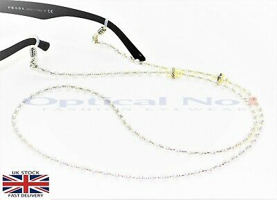 Sunglasses Eye Glasses Holder Necklace Pearl Beads Silver Rings jx-0011-1c -No1
