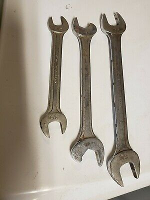 Vintage Blue Point Supreme Open End Wrenches -Set of 3- S1618,  RS2024, S2526