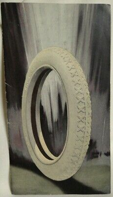 Kelly-Springfield white rubber car tire advertising paper Akron Canton Ohio