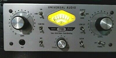 Universal Audio 710 Twin-Finity Tube Microphone Mic Preamp Preamplifier