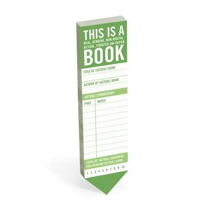 Knock Knock This Is a Book Bookmark Pad by Knock Knock (creator)