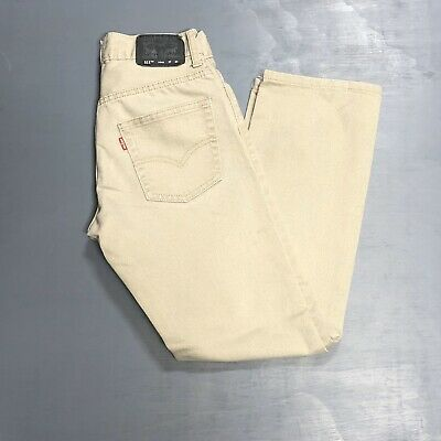 Lot Of 3 Levi's Boys Jeans 511 14 Reg Slim 27x27 Youth Tan Black 27L 27W
