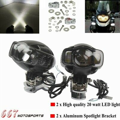 BS-Motoparts Auxiliary Spot Lights for Honda Africa Twin XRV 750 Lumitecs S1 E-Homologated