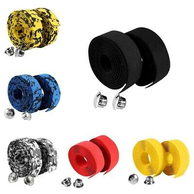 Handlebar Tape Rubber Grips Cycling Road Bicycle Bike Wrap Tapes & Plugs Great