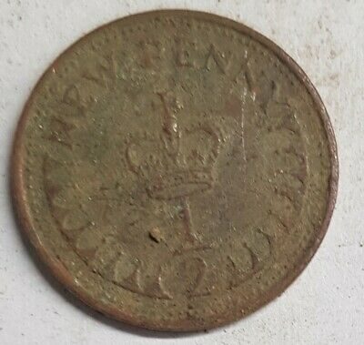 Old Coin 1978 Half New Pence British