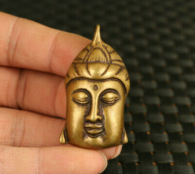 chinese old bronze Hand cast buddha statue pendant netsuke collectable gift