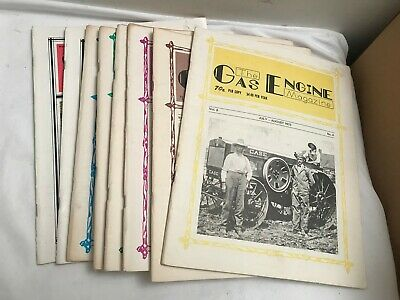 Lot Of 8 The Gas Engine Magazines Back Issues 1973 - 1986
