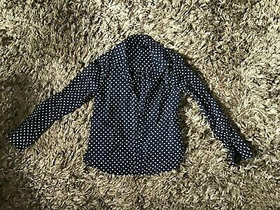 Gap Kids Girls Spotted French Navy Slim Fit Shirt 8-9 Years Fine Cotton