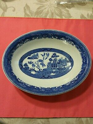 Rare Antique Chinese Export  Blue & White  Porcelain Dish /bowl marked Excellent