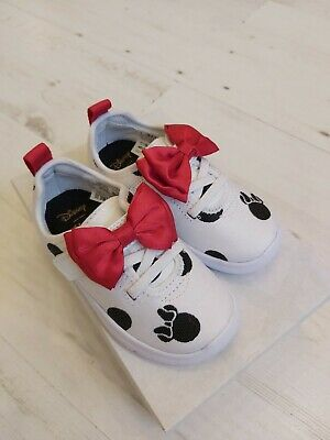Clarks Ath Bow Minnie Mouse Trainer With Red Bow Size 6.5 F BNIB