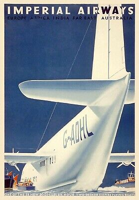 Vintage Imperial Airlines Deluxe Service Poster A3//A4 Print