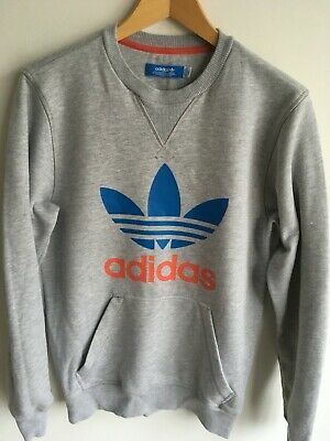 MENS ADIDAS ORIGINALS Trefoil Big Logo Spellout Crewneck