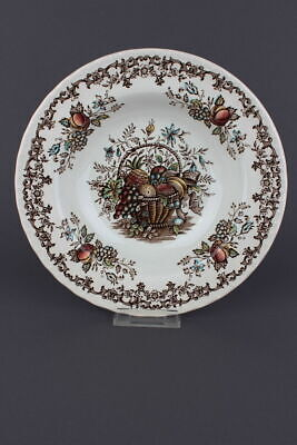 Fruits & Flowers Made by Royal Tudor braun  6 Supenteller