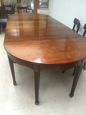19th Century Large  mahogany D end dining table