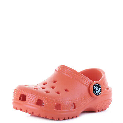 Crocs Kids Classic Tangerine Clogs Sandals Size